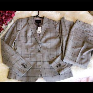 🆕BANANA REPUBLIC Tall Classic Windowpane Pantsuit